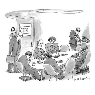 Attorneys Without Clients - New Yorker Cartoon