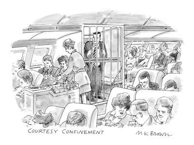 Courtesy Confinement' - New Yorker Cartoon