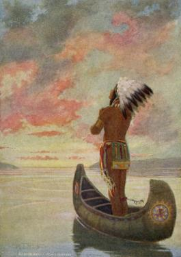 Hiawatha's Departure: Hiawatha Sails Westward into the Sunset by M. L. Kirk