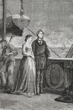 Phileas Fogg and Aouda by M.M. De Neuville