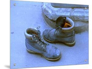 Pair of Boots Left by Ground Zero Site, New York City by M.N.