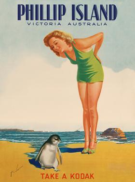 Phillip Island - Victoria, Australia - Take a Kodak - Victorian Railways by M. Newman