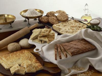 Close-Up of Focaccia Breads