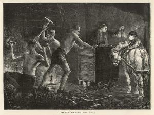 Pitmen Hewing the Coal South Durham: a Pit Pony Waits to Haul the Coal Away by M.w. Ridley