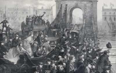 The Boat Race as Viewed from Hammersmith Bridge