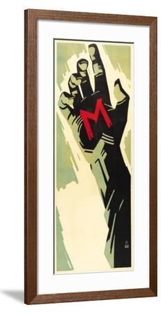 M--Framed Poster
