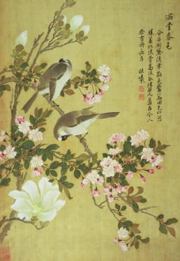 Crabapple, Magnolia and Baitou Birds by Ma Yuanyu
