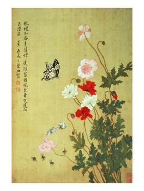 Poppies, Butterflies and Bees by Ma Yuanyu