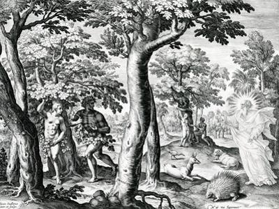 Adam and Eve Hiding from the Lord, Plate 3 of 'The Story of the First Men', Engraved by Jan…