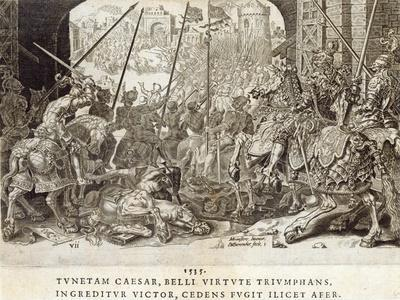 The Conquest of Tunis in 1535, Plate 7 from 'The Military Achievements of Emperor Charles V',…