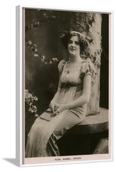 Mabel Green, Edwardian--Framed Photographic Print