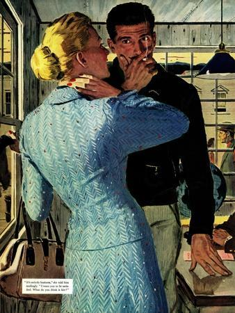 """The Golden Shadow - Saturday Evening Post """"Men at the Top"""", March 2, 1957 pg.20"""
