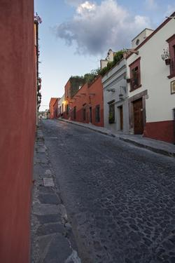 A Cobblestone Street in Central San Miguel De Allende by Macduff Everton