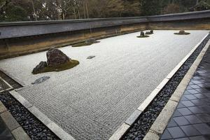 A Japanese Rock Garden at Ryoanji Gardens by Macduff Everton