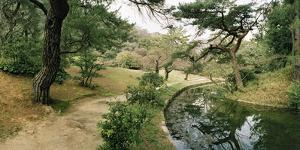 A View of a Garden Path and Parallel Watercourse in Ritsurin Park by Macduff Everton