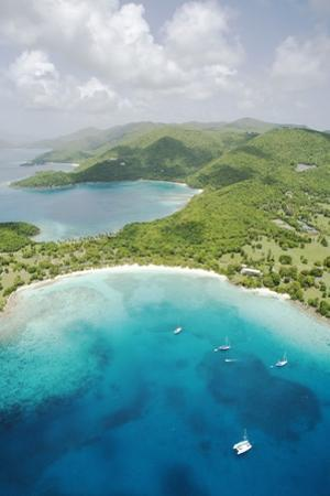 Aerial View of Caneel Bay and St. John by Macduff Everton