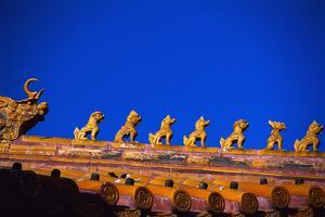 Animal Figures on the Roof of a Building in the Forbidden City by Macduff Everton