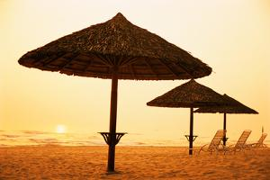 Beach Chairs and Umbrellas by Macduff Everton