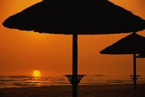 Beach Umbrella Silhouettes by Macduff Everton