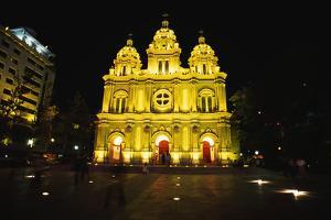 Catholic Church in Beijing at Night by Macduff Everton