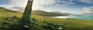Clach Mhic Leoid (Macleod's Stone), an Ancient Standing Stone Near Scarista by Macduff Everton