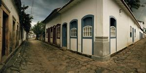 Cobbled Streets Intersect in Parati, a 17th Century Portuguese Colonial City by Macduff Everton