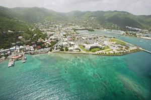 Road Town on Tortola in British Virgin Islands by Macduff Everton