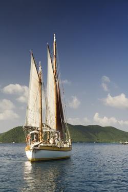 Sailboat off of St. John by Macduff Everton