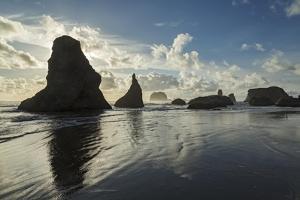 Seascape with Pinnacles at Bandon Beach in Bandon, Oregon by Macduff Everton