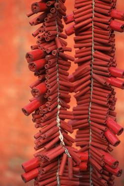 Strings of Firecrackers, A-Ma Temple by Macduff Everton