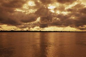 Sunset on the Amazon River by Macduff Everton