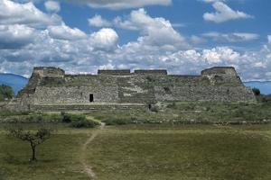 The Danzante Building, Facing the Main Plaza, at Monte Alban by Macduff Everton
