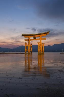 The 'Floating' Torii Gate of the Itsukushima Shinto Shrine, at High Tide by Macduff Everton