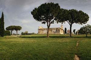 The Temple of Neptune, Actually Dedicated to the Goddess Hera, at the Greek City of Paestum by Macduff Everton