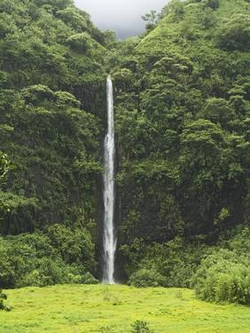 Vaihaiuru waterfall in Papenoo Valley by Macduff Everton