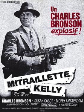 Machine Gun Kelly, French Movie Poster, 1958