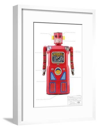Machine Man Robot--Framed Masterprint