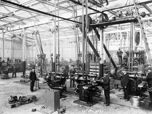 Machine Shop in the Argyll Car Factory, Glasgow, C1899-C1930