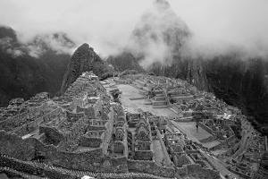 Machu Pichu Peru B/W