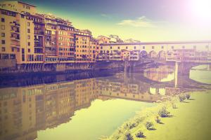 Postcard from Florence, Italy, Vintage Retro Effect. by Maciej Bledowski