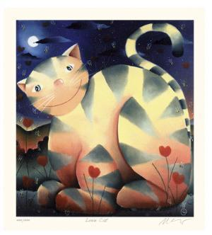 Love Cat by Mackenzie Thorpe