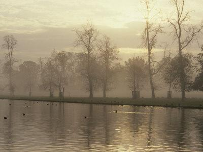 Long Water at Dusk, Hampton Court, London, England, United Kingdom, Europe