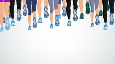 Group Running People Legs by Macrovector