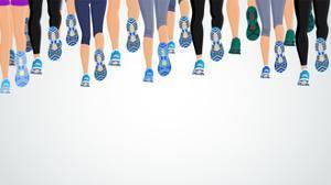 Group Running People Legs by Macrovector
