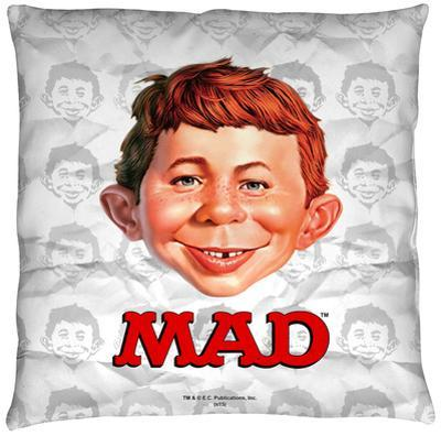 Mad - Alfred Head Throw Pillow