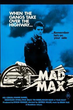 Mad Max, Mel Gibson on Australian poster art, 1979