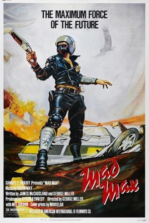 Mad Max, US poster, Mel Gibson, 1979. © American International/courtesy Everett Collection