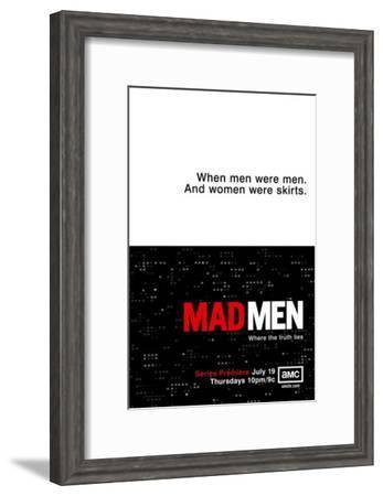 Mad Men--Framed Masterprint