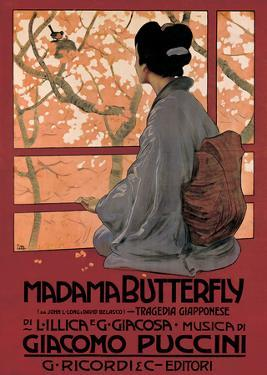 Madam Butterfly (G. Puccini) - Vintage Style Opera Poster