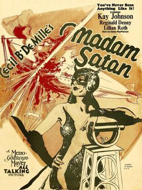 MADAM SATAN, Kay Johnson, window card, 1930.